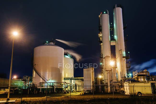 Osservazione dell'impianto di ossigeno e azoto — Foto stock