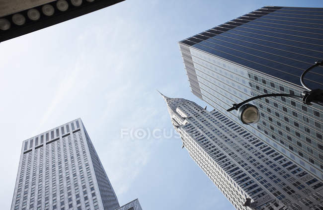 Chrysler building and skyscrapers, New York, USA — Stock Photo