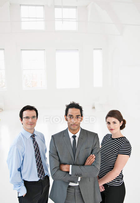 Business people standing in office, selective focus — Stock Photo