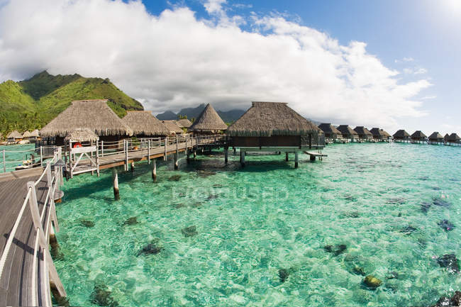 Scenic view of Holiday resort in moorea — Stock Photo
