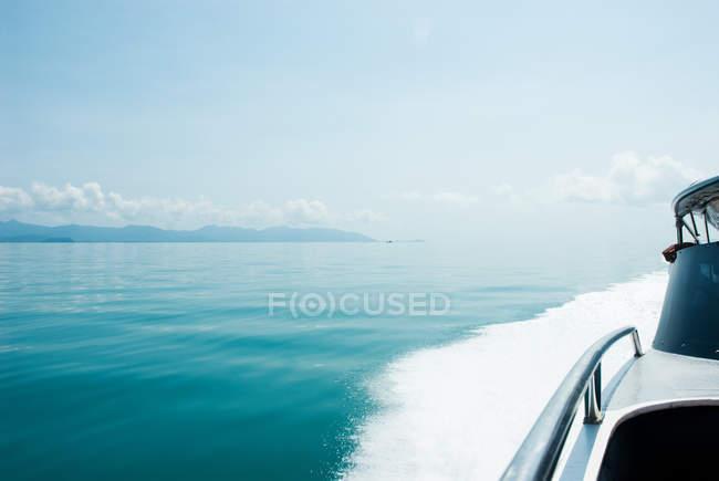 Speed boat at sea — Stock Photo