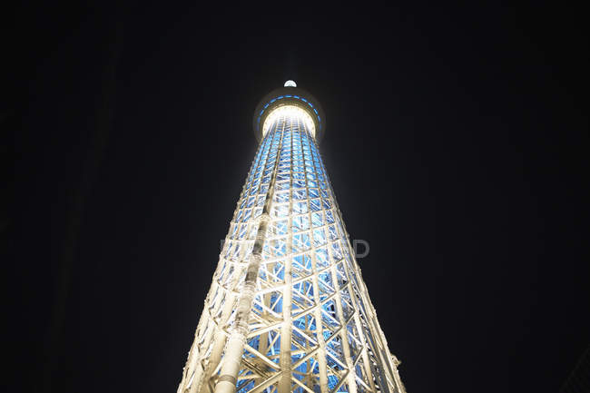 Tokyo Skytree at night — Stock Photo