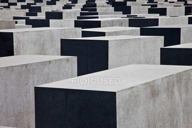 Betonskulpturen, Holocaust-Mahnmal, Berlin, Deutschland — Stockfoto