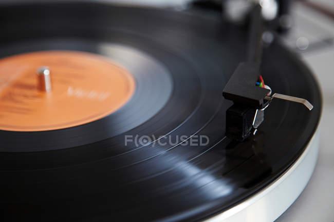 Needle playing record — Stock Photo