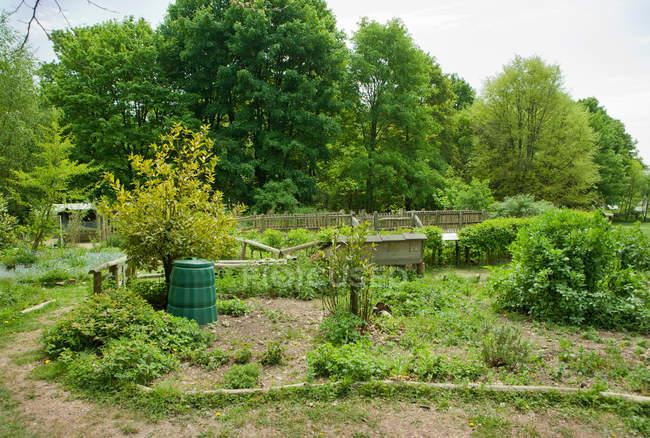 Sustainability garden in park — Stock Photo
