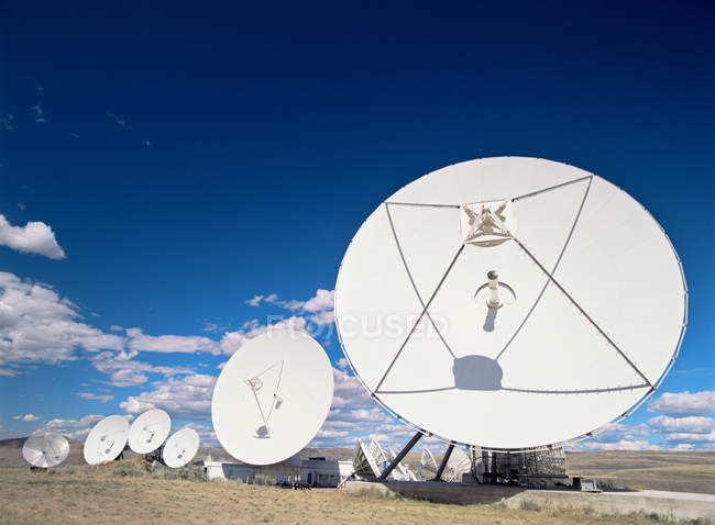 Communication antennas in Brewster, Washington — Stock Photo