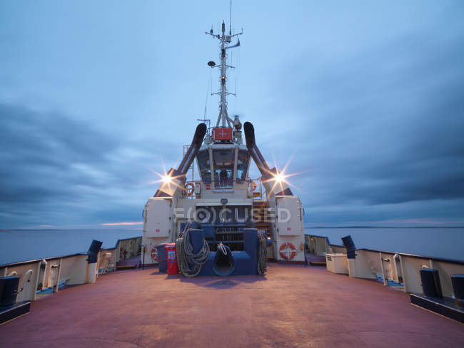 View of Tug deck at night — Stock Photo
