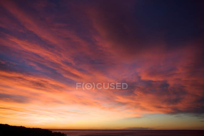 Colorful clouds in sky — Stock Photo