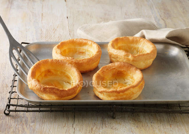Beef dripping Yorkshire puddings — Stock Photo