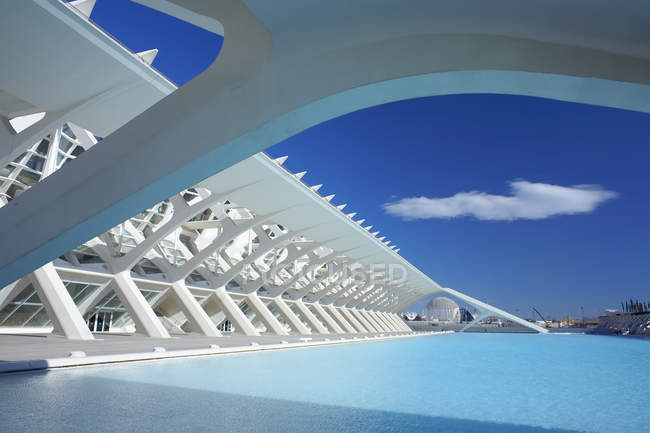 Architectural detail of City of Arts and Sciences, Valencia, Spain — Stock Photo