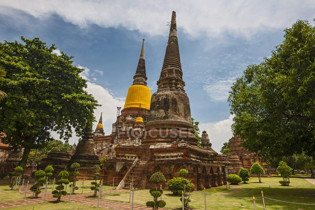 Wat Yai Chai Mongkons Tempel, Ayutthaya, Thailand — Stockfoto