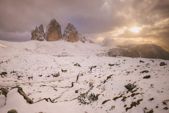 Tre Cime di Lavaredo area, South Tyrol, Dolomite Alps, Italy — Stock Photo