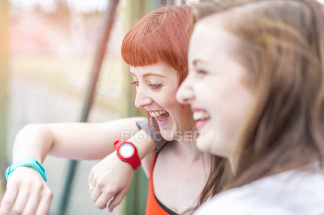 Portrait of Young women laughing — Stock Photo