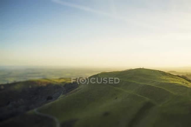 Vista panorámica de Malvern Hills, Worcestershire, Inglaterra, Reino Unido - foto de stock