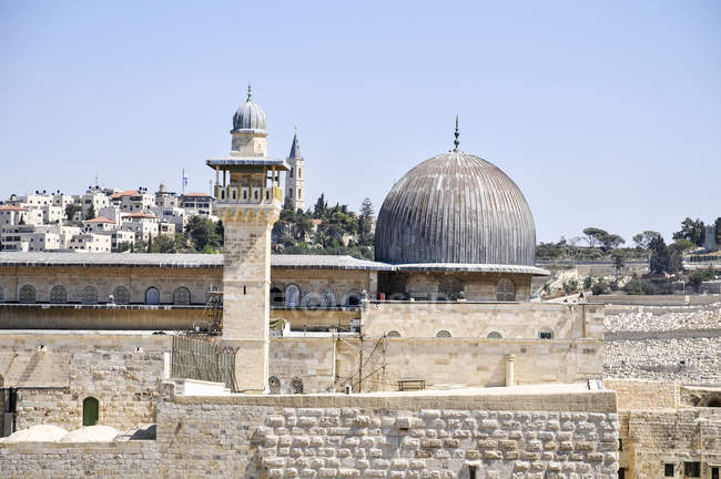 Vista do Haram al-Sharif, o monte do templo, Jerusalém, Israel — Fotografia de Stock