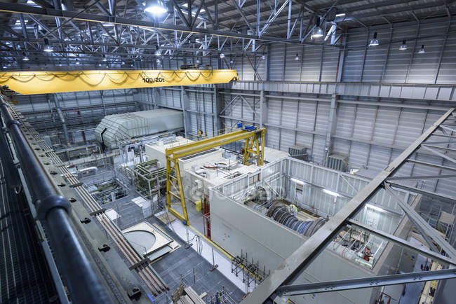 Interior view of gas-fired power station during outage — Stock Photo