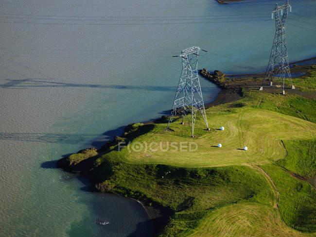 Ländliche Stromleitungen — Stockfoto
