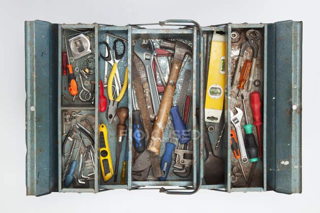 Панель елементів з інструментами, ізольовані на білому тлі — стокове фото