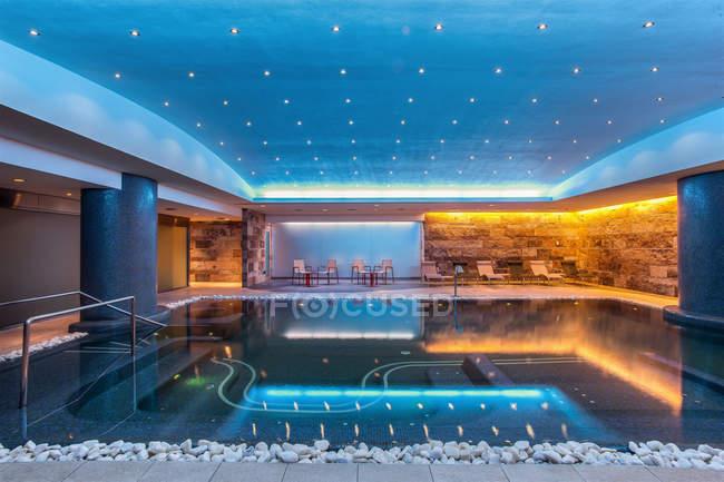 Still modern indoor pool — Stock Photo