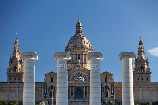 Columns in front of Catalonia National Museum of Art — Stock Photo