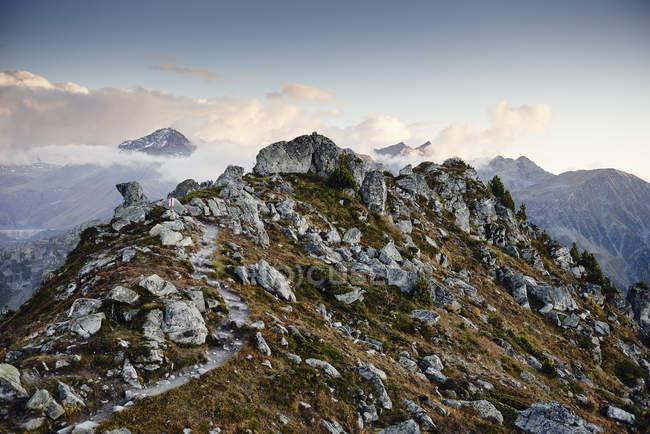 Scenic view of mountains, Valais, Switzerland — Stock Photo