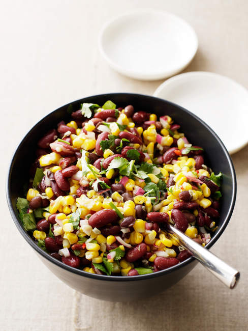 Bowl of beans salad — Stock Photo