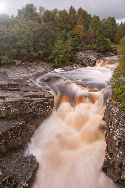 Elevated view of remote waterfall — Stock Photo
