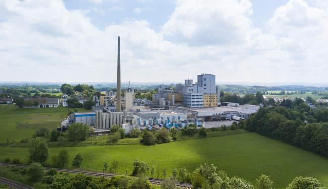Veduta dello stabilimento industriale di Wasserberg, Baviera, Germania — Foto stock