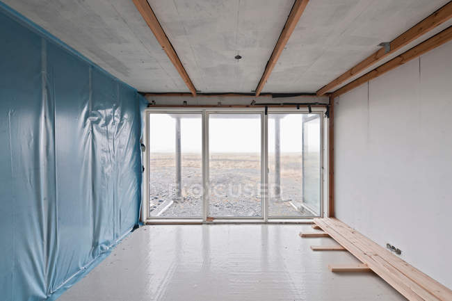 . Empty room in modern house under construction   moving house