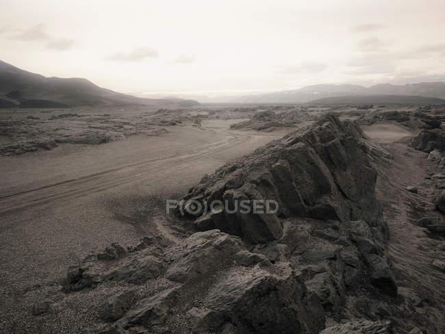 Paesaggio roccioso vuoto — Foto stock