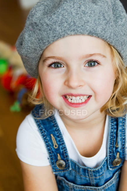 Close up of girl with smiling face — Stock Photo