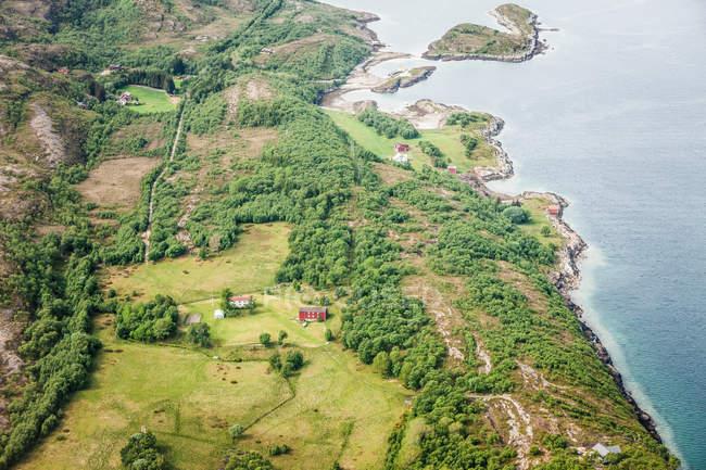 Vista do litoral rural — Fotografia de Stock