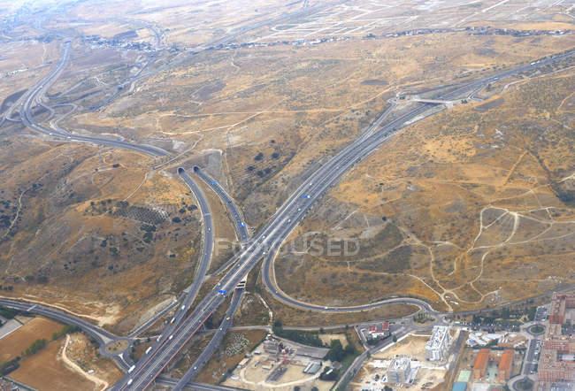 Vista da rede rodoviária — Fotografia de Stock