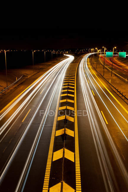 View of traffic on highway — Stock Photo