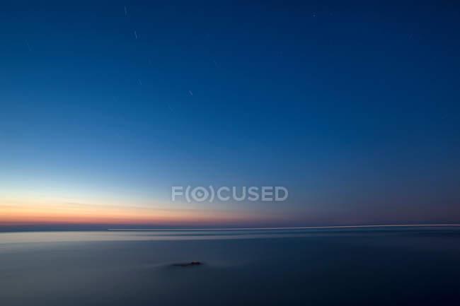Mare toscano al tramonto — Foto stock