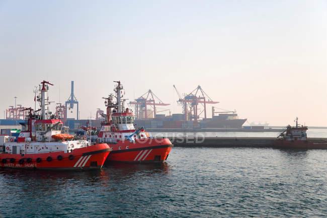 Barche dei vigili del fuoco — Foto stock