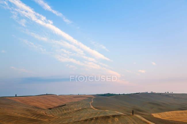 Campi coltivati nel paesaggio rurale — Foto stock