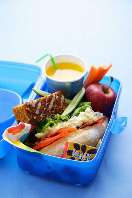 Healthy food in lunch box — Stock Photo