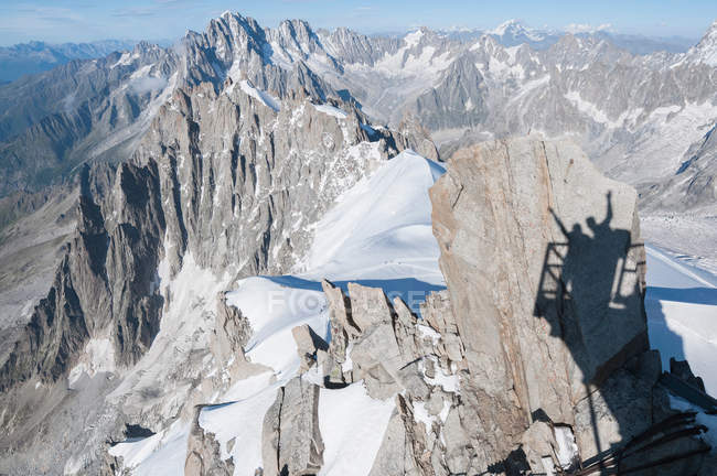 Aerial view of Mont Blanc, Chamonix, France — Stock Photo