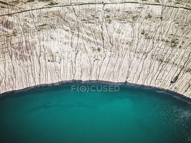 Aerial view of strip coal mining field — Stock Photo