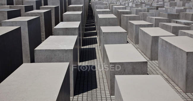 Close up of concrete sculptures, holocaust memorial, Berlin, Germany — Stock Photo
