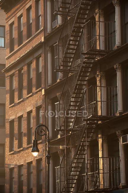 Gebäude Fassade, Manhattan, New York City, Vereinigte Staaten — Stockfoto