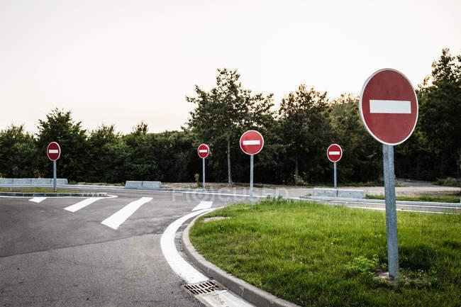 Keine Einreisezeichen — Stockfoto