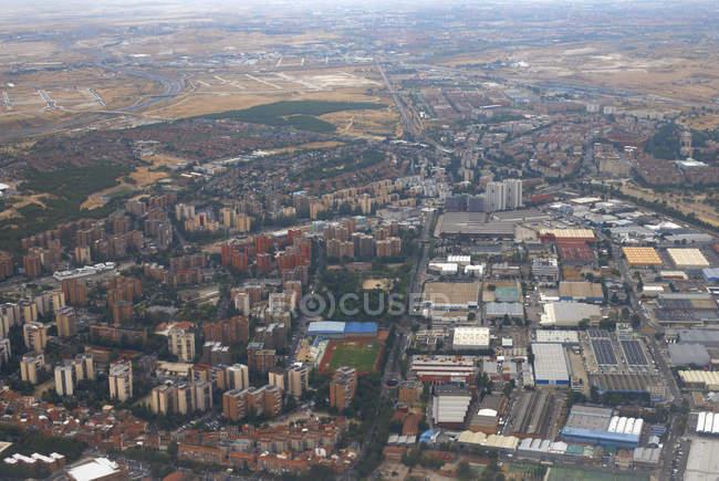 Vista aérea de la ciudad de Madrid, España - foto de stock