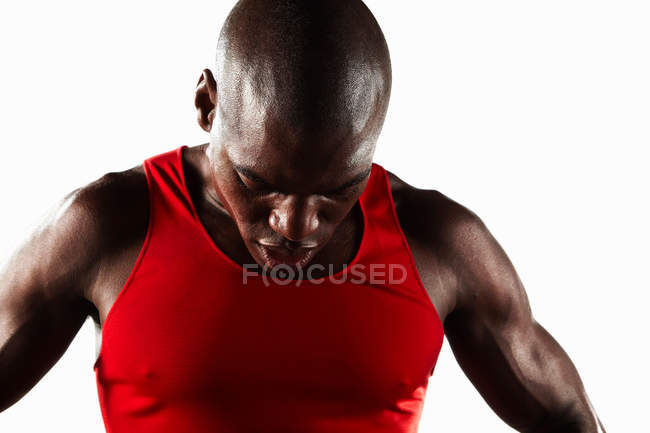 Close up of athlete's face — Stock Photo