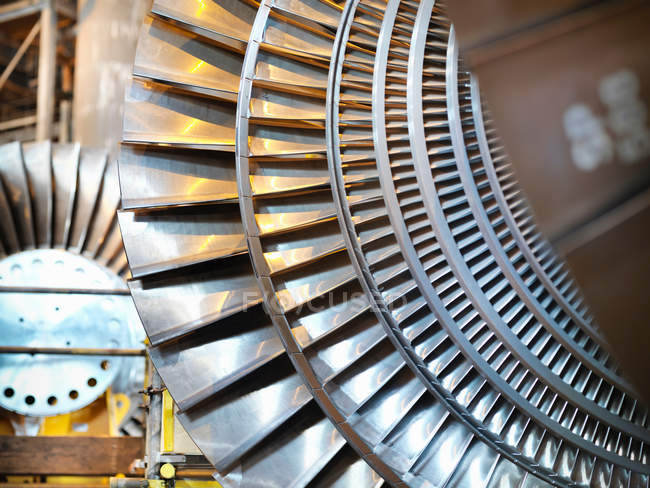 Close up of Turbines in power station — Stock Photo