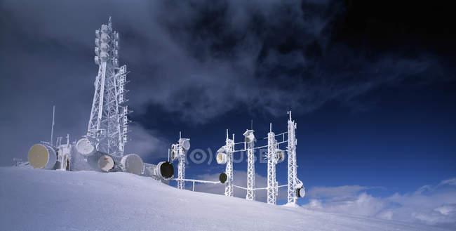 Torres en central eléctrica en Cerro Nevado - foto de stock