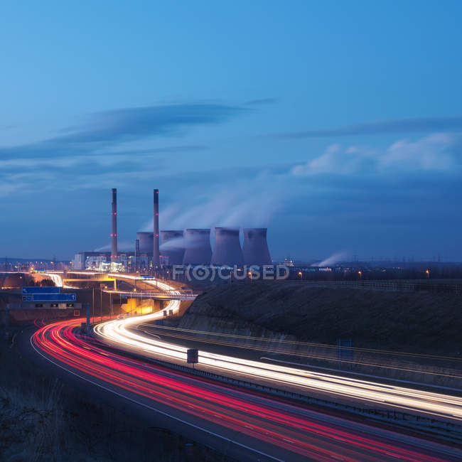 Power Station With Motorway — Stock Photo