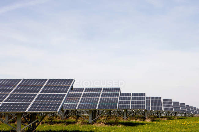 Large solar energy plant — Stock Photo