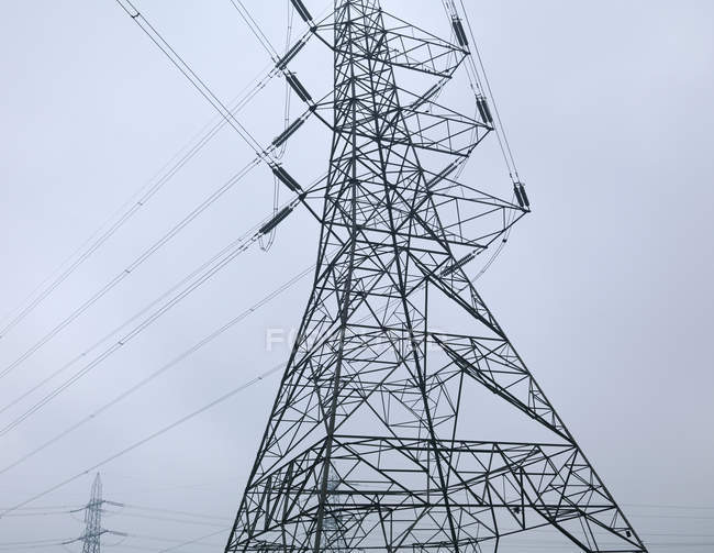 Low angle view of Power Lines — Stock Photo